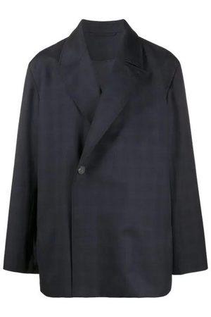 Balenciaga Checkered jacket navy