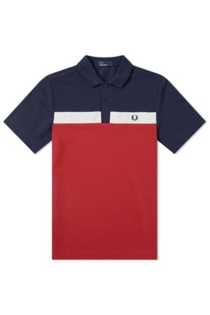 Fred Perry Men Polo Shirts - Contrast Panel Polo Red