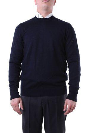 Messagerie Men Sweaters - MEN'S G41221T09401BLUE WOOL SWEATER