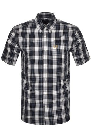 Fred Perry Men Short sleeves - Authentic Button Down Short Sleeve Check Shirt Dark Airforce