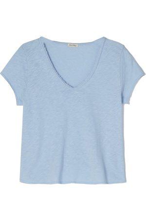 American Vintage Women Short Sleeve - Sonoma Short Sleeve V Neck Tee - Vintage Waterfall