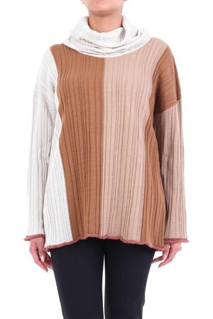 Alysi Multicolor turtleneck with ribbed texture