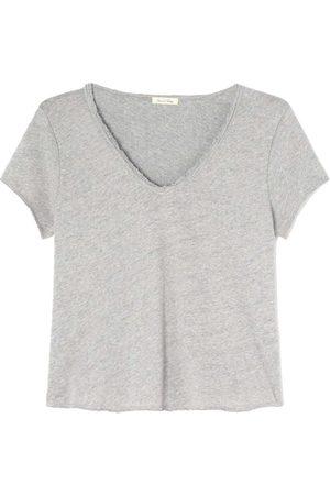 American Vintage Sonoma V-Neck T-Shirt - Heather Grey