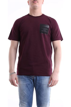 Maison Margiela T-shirt with short sleeves in burgundy color