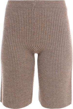ERIKA CAVALLINI Women Bermudas - Virgin wool bermuda shorts