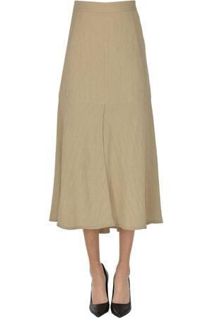 tibi Embossed fabric midi skirt