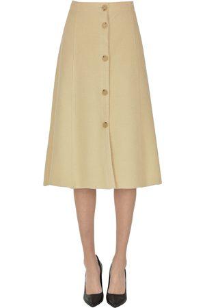 FORTE FORTE Textured fabric midi skirt