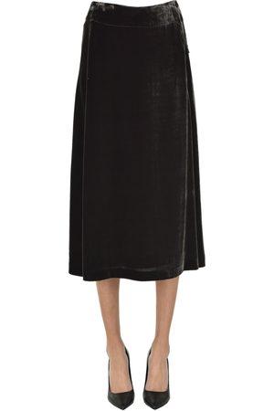 Aspesi 351 Women Midi Skirts - Velvet midi skirt