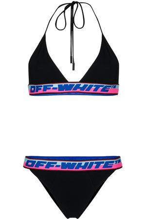 Off-White Women's Logo Band Triangle Bikini