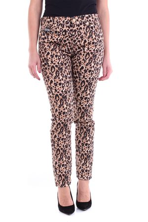 VERSACE Leopard straight jeans