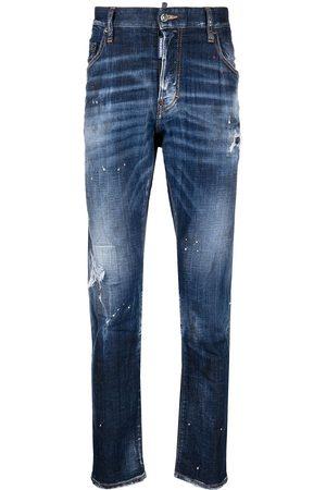 Dsquared2 Ripped Leg 5 Pocket Jeans