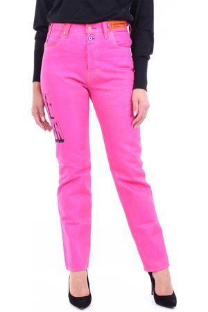 Heron Preston Women Straight - Straight jeans in fuchsia color