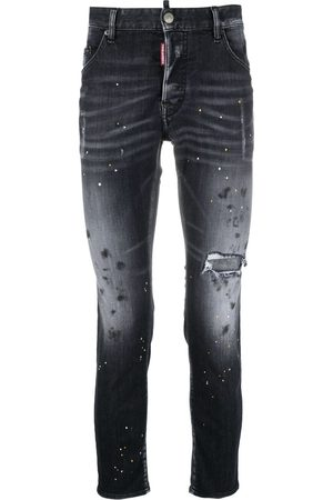 Dsquared2 5 Pocket Skinny Logo Jeans