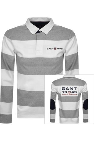 GANT Men Sweatshirts - Retro Shield Rugger Polo Sweatshirt Grey