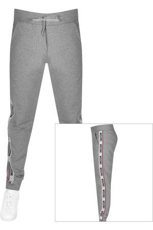 Moschino Men Chinos - Logo Jogging Bottoms Grey