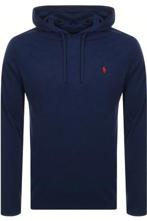 Ralph Lauren Men Long Sleeve - Long Sleeved Hooded T Shirt Navy