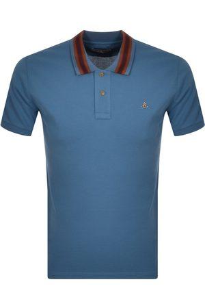 Vivienne Westwood Men Polo Shirts - Stripe Collar Polo T Shirt