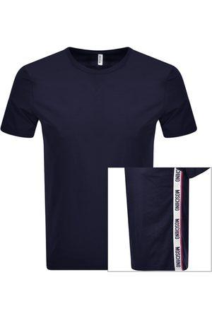 Moschino Logo Taped T Shirt Navy