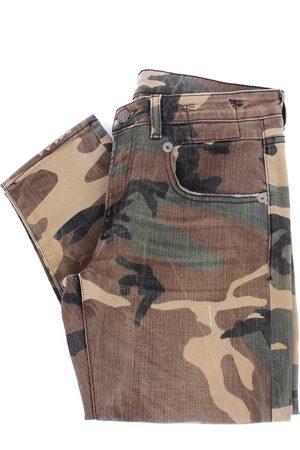 R13 Skinny boyfriend jeans in camouflage color