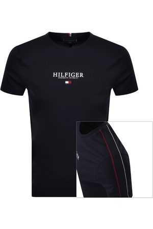 Tommy Hilfiger Icon Flag Logo T Shirt Navy