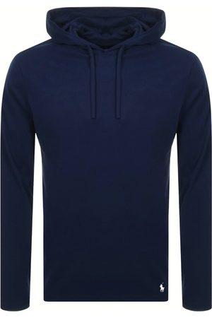 Ralph Lauren Long Sleeved Hooded T Shirt Navy