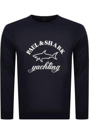 Paul & Shark Paul And Shark Crew Neck Logo Sweatshirt Navy