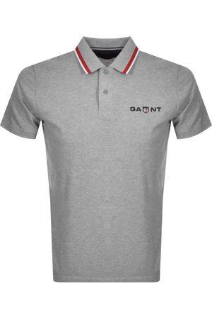 Gant Retro Shield Rugger Polo T Shirt Grey