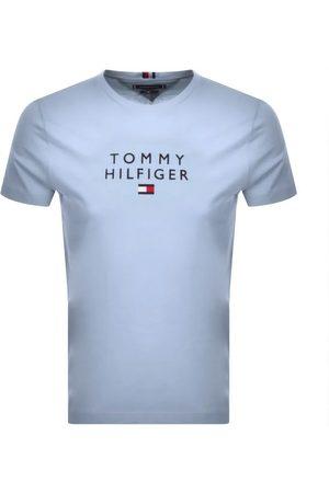 Tommy Hilfiger Men Short Sleeve - Stacked Flag Logo T Shirt