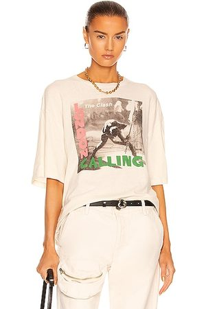 R13 Clash London Calling Oversize Tee in Ivory