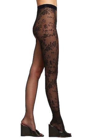 Wolford Women Stockings - X Amina Muaddi Split Lace Tights in