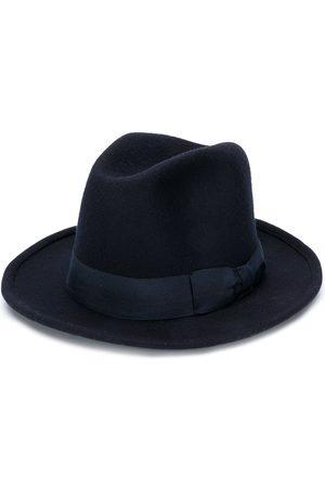 AMI Alexandre Mattiussi AMI PARIS Ribbon Detail Wool Hat Navy