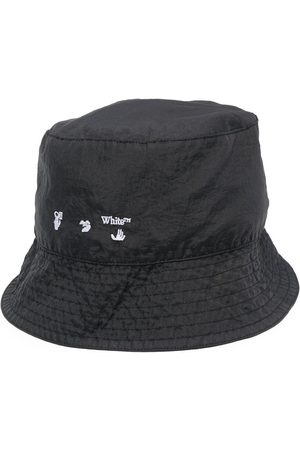 OFF-WHITE Men Hats - Logo Print Bucket Hat