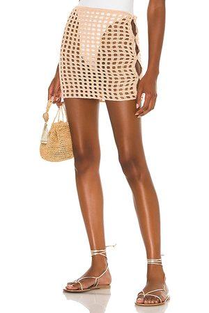 lovewave The Coralee Mini Skirt in Peach.