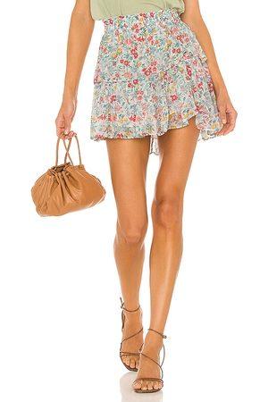 LoveShackFancy Ruffle Mini Skirt in Baby .