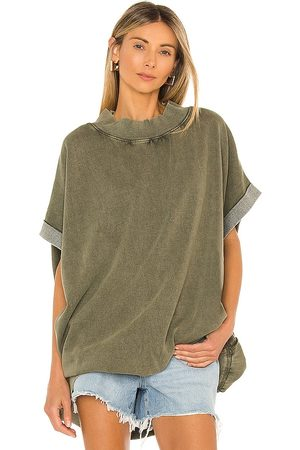 Free People Grove Pullover in Olive.