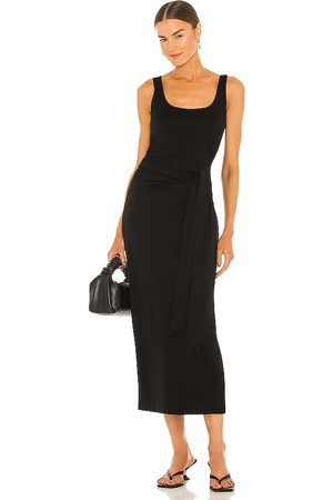 Vince Cotton Sleeveless Wrap Dress in .