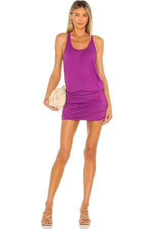 Michael Stars Scoop Neck Racerback Dress in Purple.