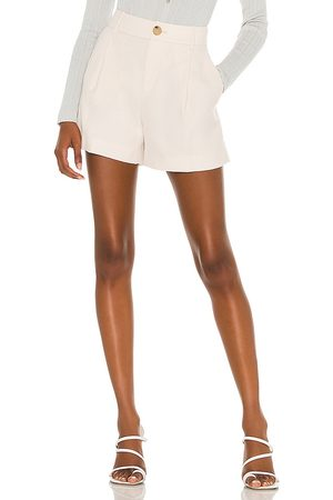 Vince Pleat Front Short in Neutral.