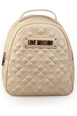 Love Moschino Women Purses - QUILTED NUDE PINK BACKPACK