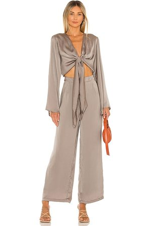 SNDYS Pluto Jumpsuit in Olive.