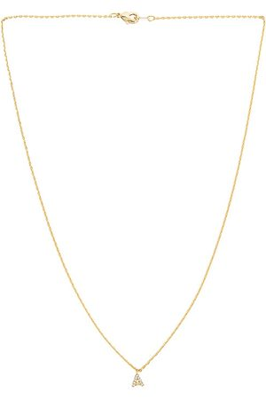 petit moments Call Me By Your Name Necklace in Metallic .