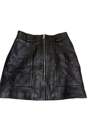 Maje Women Mini Skirts - Fall Winter 2019 leather mini skirt