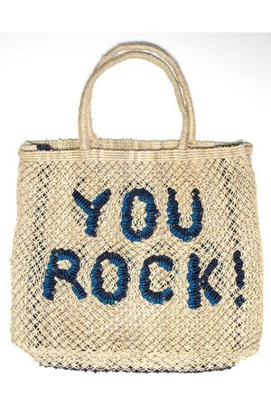 The Jacksons You Rock! Bag Natural with Ocean and Navy Large