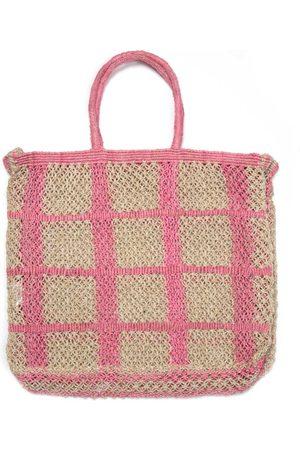 The Jacksons Picnic Natural and Rose Pink Jute bag
