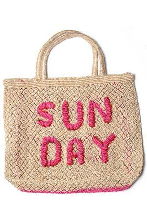 The Jacksons Sunday Pink Jute Bag