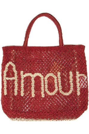 The Jacksons Amour Red and Natural Jute Bag