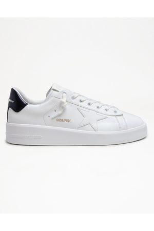 Golden Goose Men's Pure Star Laminated Heel Leather Sneaker