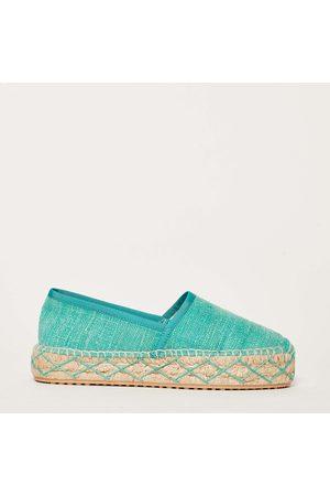 Car Shoe Pantofola espadrilles in tessuto smeraldo