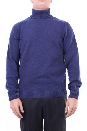 Heritage Knitwear High Neck Men Cobalt