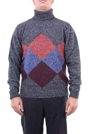 Heritage Knitwear High Neck Men Anthracite fantasy